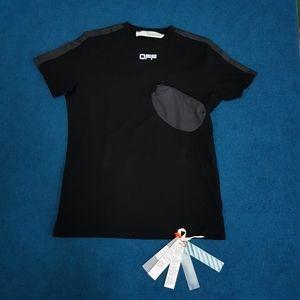 Off- White Men Chest Pocket Black Short Sleeve